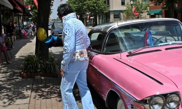 king new mexico Elvis pink cadilac movie scene